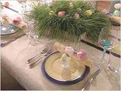 Сервірування пасхального столу до Великодня