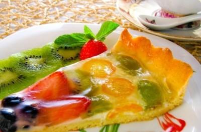 Фруктовий торт з желе