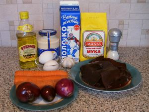 Інгредієнти печінковий торт