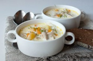 Густий курячий суп