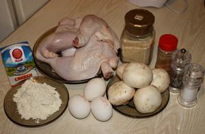 Фаршировані стегенця з грибами інгредієнти