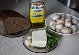 Грибна закуска на хлібі Інгредієнти