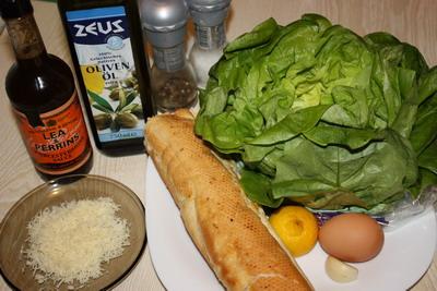 Інгредієнти для класичного салату Цезар