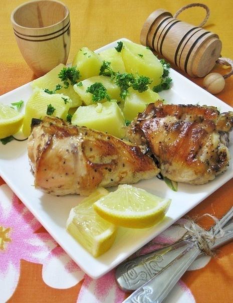 Курка, запечена з лимоном 3