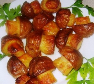 Свинина, запечена з картопляними грибочками 2