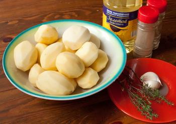 Інгредієнти для картоплі з часником