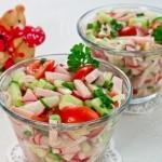 Овочевий салат з шинкою