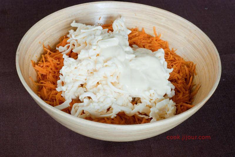Салат з моркви із сиром 6