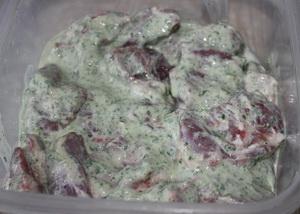 Шашлик в м'ятно-йогуртовому маринаді 3