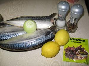 Інгредієнти для скумбрії-гриль з лимоном