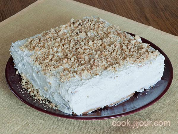 Торт із печива та сиру 7