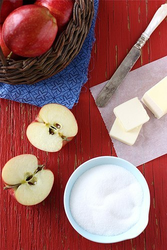 Яблука з морозивом в карамелі 2