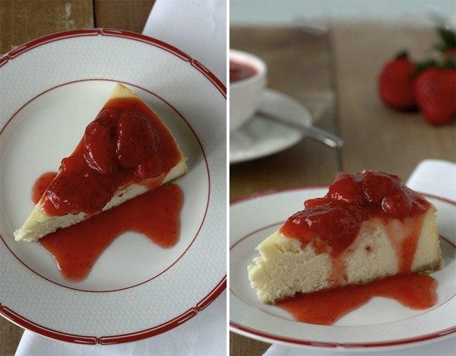 Полуничний домашній соус з пирогом