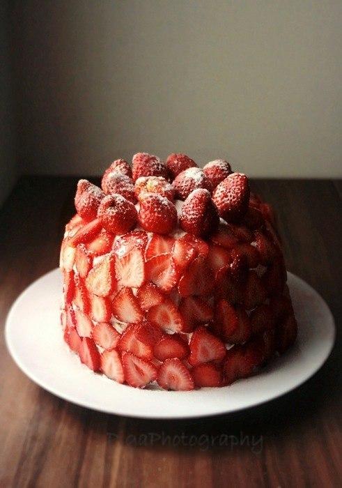 Полуничний торт з млинців 10