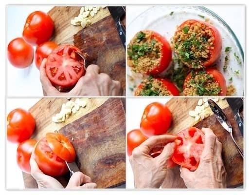 Спагетті з запеченими помідорами, часником і беконом 3