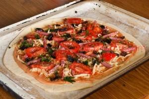 Італійська піца (тісто на манці) фото 11