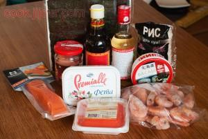 Інгредієнти для рецепту суші в домашніх умовах