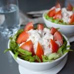 Салат з курки та помідорів