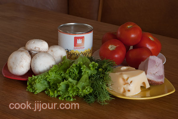 Салат в помідорі Інгредієнти