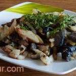 Смажена картопля з грибами