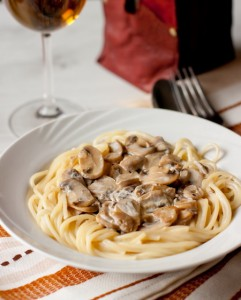 Спагетті з грибним соусом