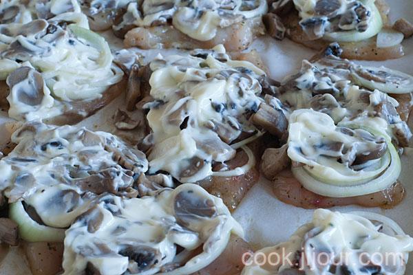 Куряче філе з грибами під сиром - фото 10