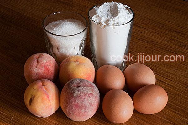 Пиріг з персиками Інгредієнти