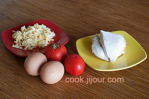 Яєчня з помідорами та куркою в духовці Інгредієнти