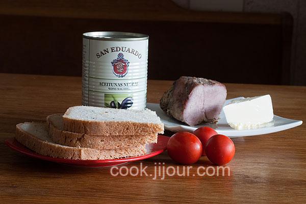 Бутерброди 'Сонечка' Інгредієнти