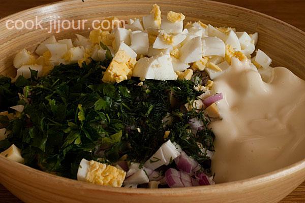 Салат з шинкою - фото 7
