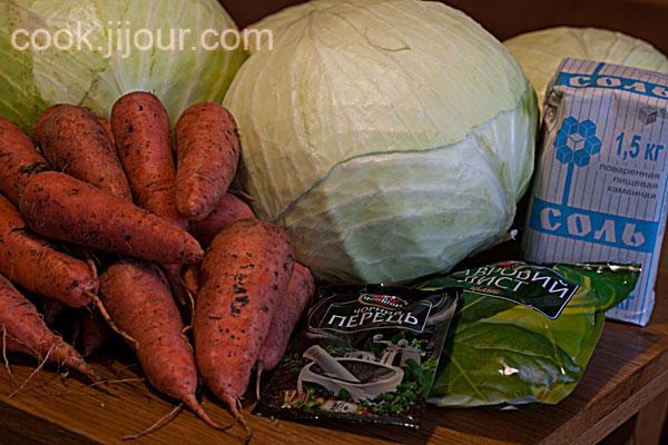 Рецепт квашеної капусти - Інгредієнти