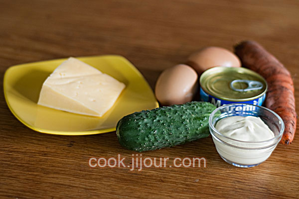 Салат з тунцем - Інгредієнти