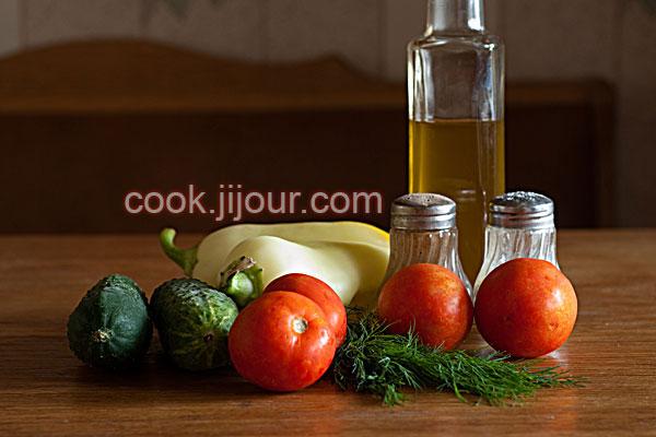 Овочевий салат - Інгредієнти