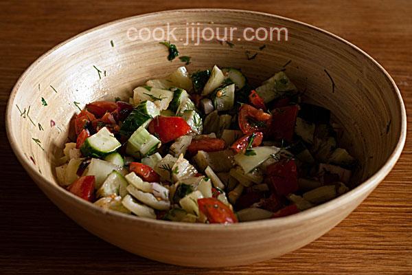 Салат зі свіжих овочів - фото 6