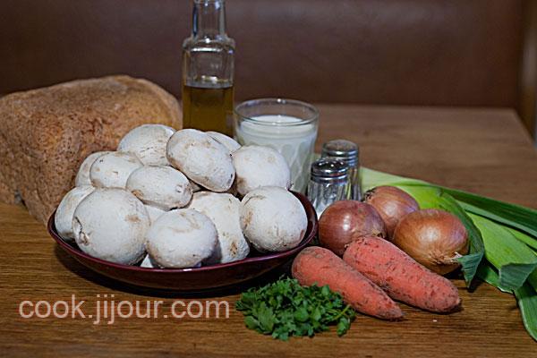 Суп-пюре з шампіньйонів - Інгредієнти