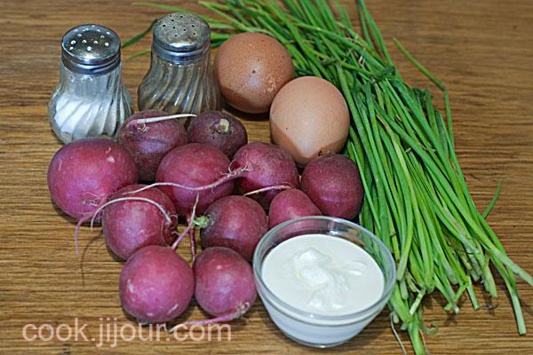 Салат з редису - Інгредієнти