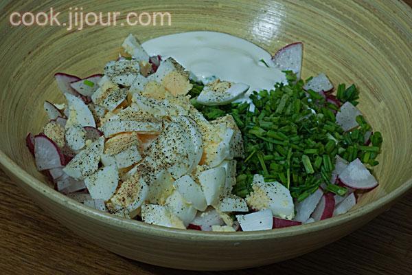 Салат з редису - фото 4
