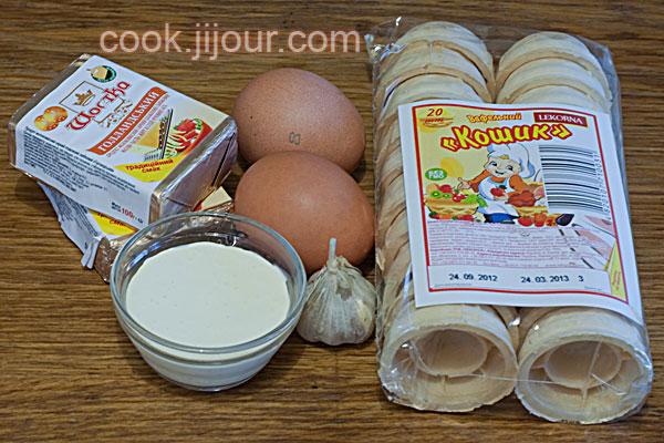 Салат з сиром і часником - Інгредієнти