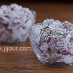 Салат з курки, редису та горіхів
