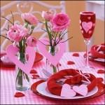 Стіл на день святого Валентина