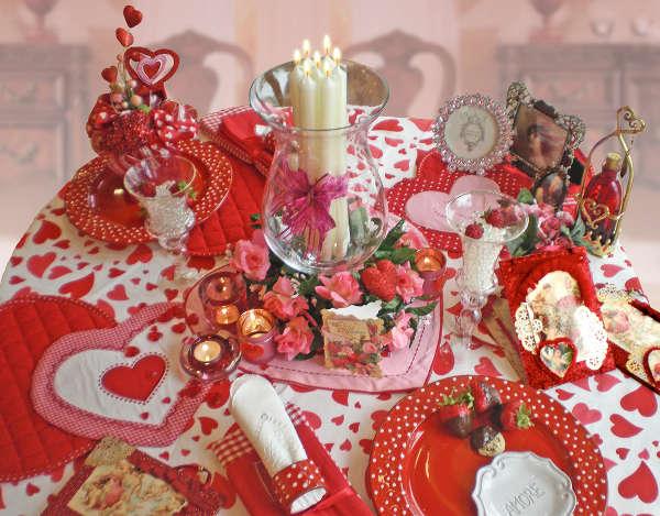 Стіл на день святого Валентина - фото 2