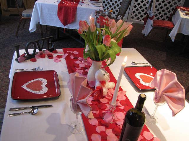 Стіл на день святого Валентина - фото 4