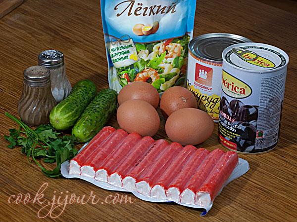 Салат з крабових паличок - Інгредієнти