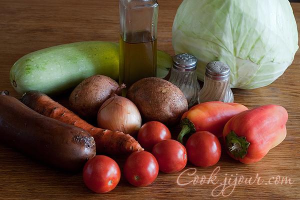 Овочеве рагу - Інгредієнти
